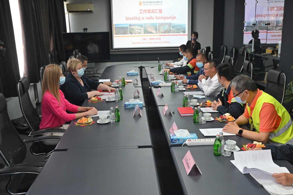 Ministarka privrede Anđelka Atanasković u poseti kompaniji Serbia Zijin Copper